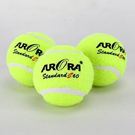 2,6 pulgadas de 3 bolas de entrenamiento de pelota de tenis de ...
