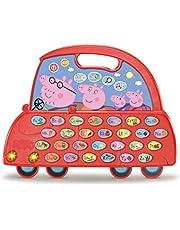 VTech - De alfabet Peppa Pig auto, speelgoed voor kinderen vanaf 3 jaar, leert het alfabet, ontdek nieuwe vokabularium, meer dan 200 geluiden, zinnen, liedjes en melodieën, kleurrijk.