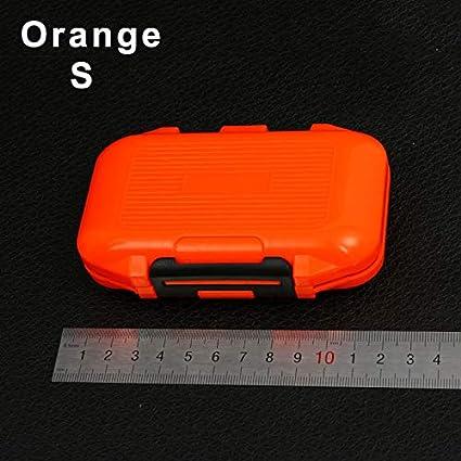 Orange Proglam /Étui de Rangement /étanche pour leurres de p/êche /à la Carpe et /à la Mouche Small