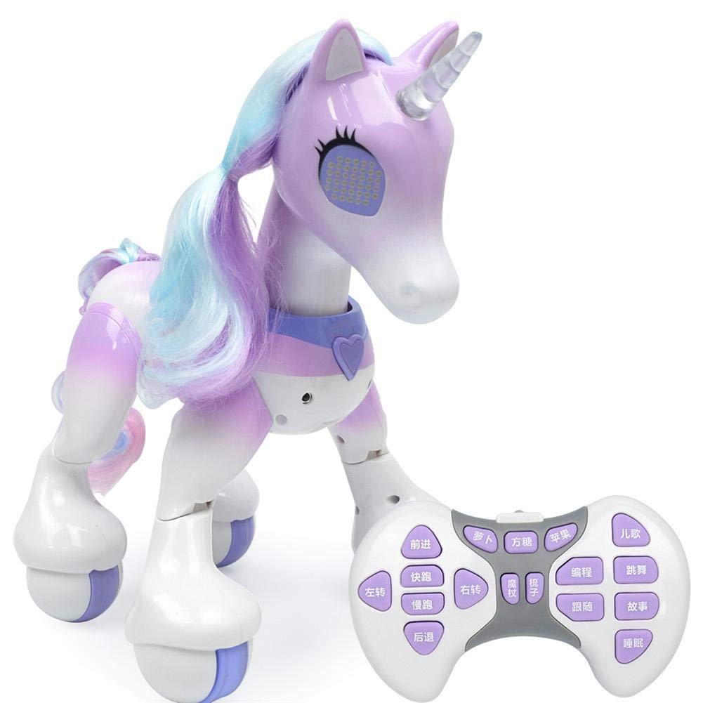 Giocattolo Elettronico per Animali Domestici, Unicorno Telecomandato, Robot Tattile Interattivo Interattivo a Comando Vocale KiGoing