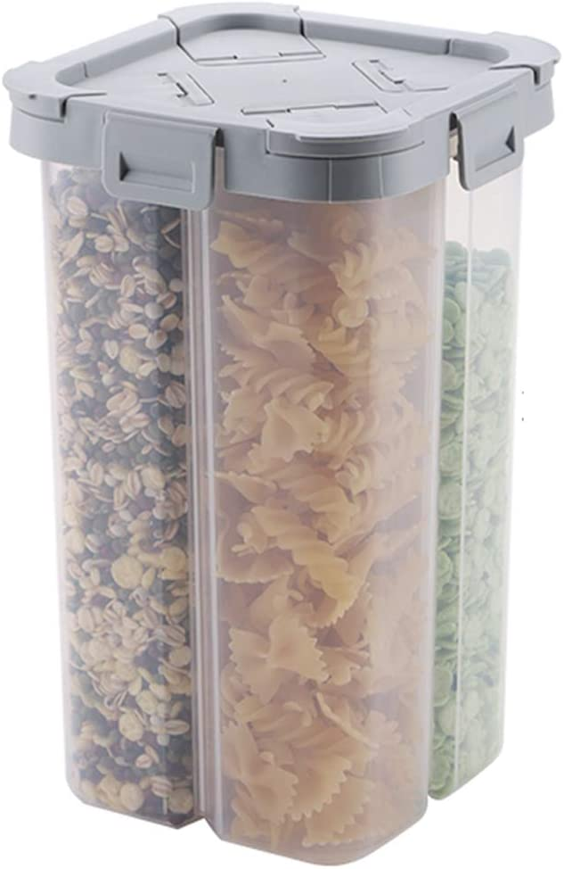 Transparent Partitioned Food Storage Container, Sealed Plastic Storage Fresh-keeping Jar, Used To Store Cereal Snacks In The Kitchen,2300ml