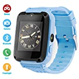 Kids Phone Smartwatch Child Games 1.54 inch Touch Screen Two-Way Call HD Camera Bluetooth (Blue)