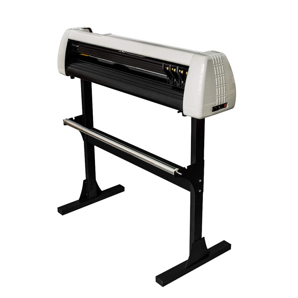Pevor Vinyl Cutter 28 Inch Plotter Machine 720mm Paper Feed LCD Display Vinyl Cutter Plotter Adjustable Sign Cutting Plotter Machine with Stand by Pevor