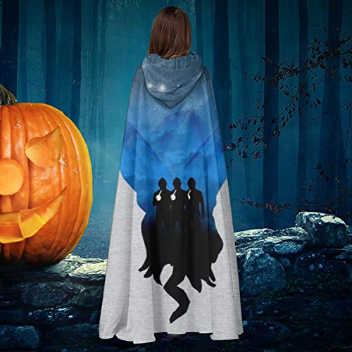 Doctor Who The OOD Silhouette Unisex Christmas Halloween Witch Knight Hooded Robe Vampires Cape Cloak Cosplay Costume Black