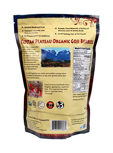 Earth circle organics goji berries 1 pound desertcart for Earth elements organics
