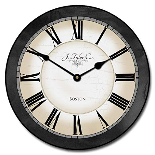 (Carolina Gray Wall Clock, Available in 8 Sizes, Most Sizes Ship 2-3 Days,)