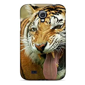 New Arrival Premium S4 Case Cover For Galaxy (grin Tiger)