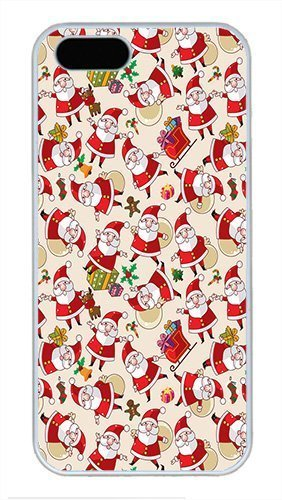 iphone-5s-case-cover-anta-claus-pattern-texture-background-cool-design-hard-case-for-iphone-5s-and-i