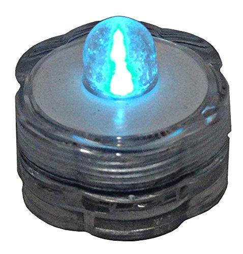 Blue Dot Trading 24-Piece Submersible Teal LED Tea Lights-24 Lights in Teal Color (Led Teal)