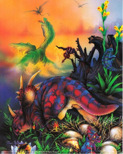 Wall Decor Picture Triceratops Dinosaurs Kids Room Art Print Poster (16x20)