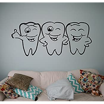 Wall Decals Tooth Vinyl Sticker Dental Decal Smiling Tooth