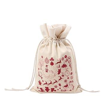 Gespout Natural Yute Bolsa de Tela Lona Bolsitas de Navidad Candy Regalo Bolsas Almacenamiento y organización Mujeres Bolso del Ropa Bra Toallas Paquete de ...