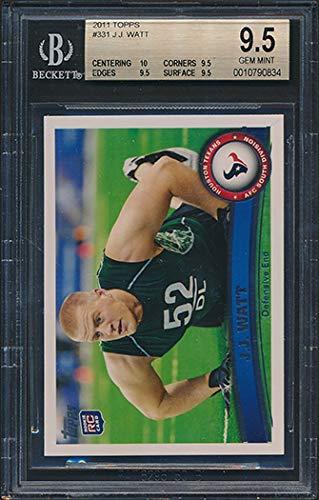 2011 Topps #331 JJ Watt Rookie Card Graded BGS 10-9.5-9.5-9.5