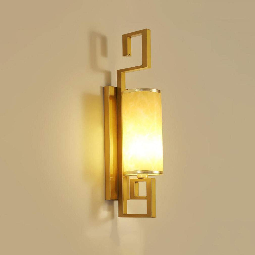 BAI-Light Lámpara de Pared y Apliques de Hierro, de una Sola Cabeza Rural Luces de Palacio Retro E14 Sala de Estar Creativa Restaurante Mesita de Noche ...
