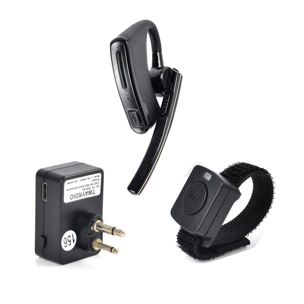 NAGOYA New Upgrade System Two Way Radio 2 Pin(Male) Walkie Talkie Earpiece Bluetooth Headset with PTT MIC for RMM2050 GP300 CP200 PR400 CLS1110 Handheld Transceiver