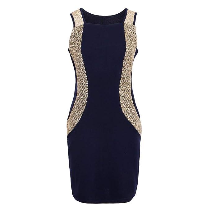 D DOLITY Vestido Hasta Rodilla Diseño Conjunto para Mujer Chica Ropa para Adelgazar Cómodo Suave Favor