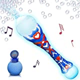 Light Up Musical Bubble Blower Wand by ArtCreativity 13.5 Illuminating Bubble Blower Wand w/Thrilling LED and Music Sound Effect for Kids, Bubble Fluid - Batteries Included | Gift Idea/Party Favors