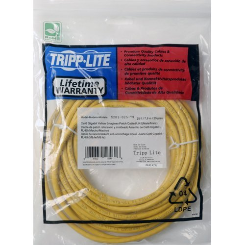 5ft cat6 yellow gigabit patch cable snagless molded