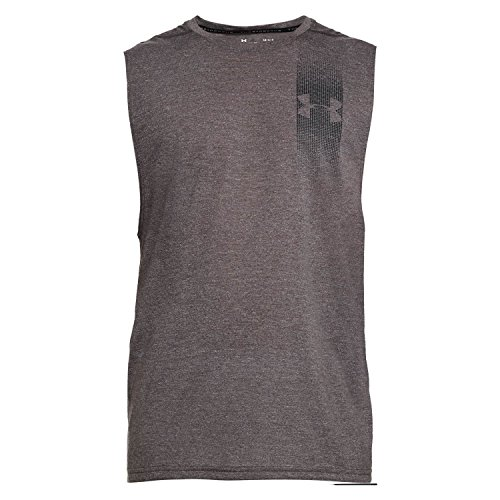 UPC 191169507704, Under Armour Men's Threadborne Muscle Tank Graphic, Charcoal Full Heathe (019)/Black, X-Large