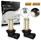 04 accord fog lights - Partsam White 68-SMD 9005 LED Daytime Running Lights Fog Driving Light x2