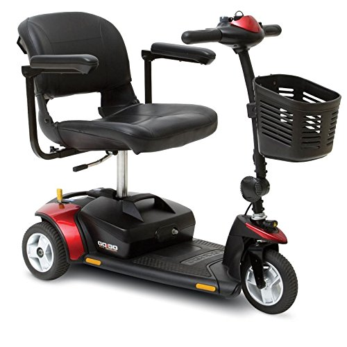 Elite Package (Pride Mobility - Go-Go Elite Traveller - Lightweight Travel Scooter - 3-Wheel - Blue - PHILLIPS POWER PACKAGE TM - TO $500 VALUE)