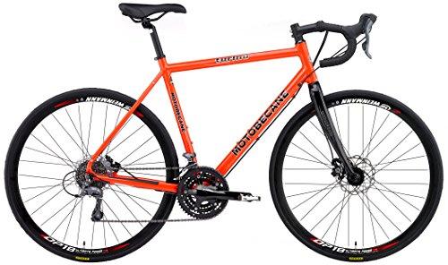 2018 Motobecane Turino ELITE Disc Shimano Claris STI 24 Speed Carbon Forks Disc Brakes Super Road Bike (Orange, 61cm - 6'1