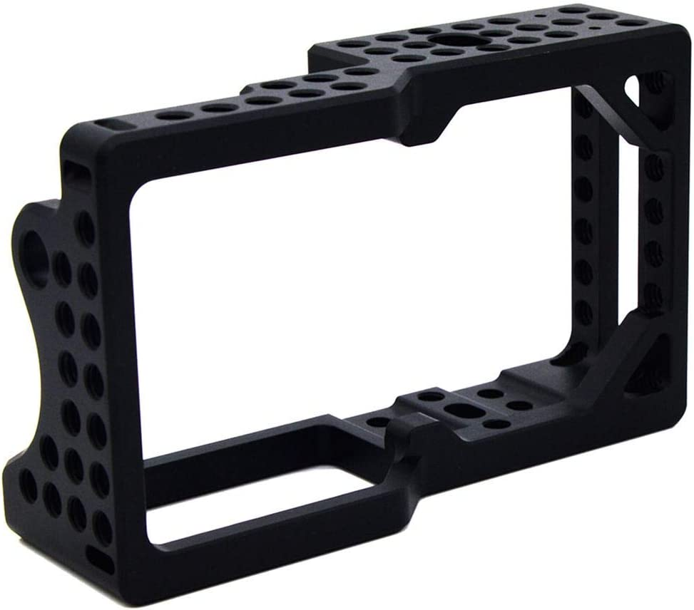 Vaorwne Video Camera Cage Stabilizer Protector for BMPCC Camera to Mount Microphone Monitor Tripod LED Light