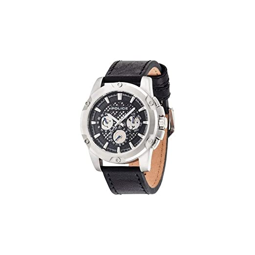 Watch Men's Display With Black Dial Analogue Police And Quartz 2WID9EH
