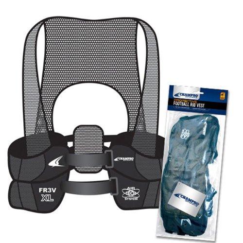 Champro Air Tech 3 Adult Rib Vest (Black, Medium)