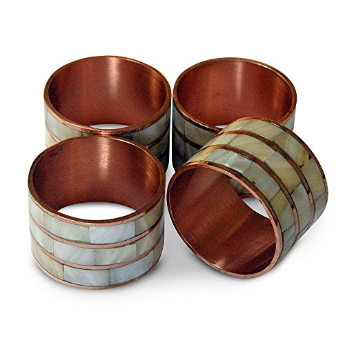 - Classic Mother of Pearl Napkin Rings You are Likely to Find in Mom's Attic. Set of 4 Packed in Exquisite Box. Pink Gold Finish (4, Pink Gold)
