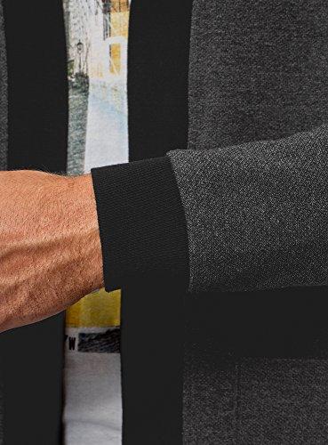 Gris Oodji Finition Homme Avec 2529n Cardigan Contrastante Et Ultra Poches Plaquées PPHrqUyzOw