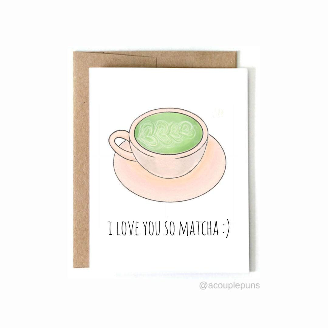 Thank You Card Matcha Whisk Green Tea Asian Food Cute Funny Greeting Card Thanks So Much Angel Thanks So Matcha Hare