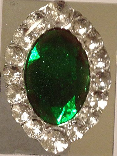 Edible Sugar Brooch Wedding Cake Diamond Jewel Gem Candy Decoration Marquis(Emerald Green) - Emerald Marquis