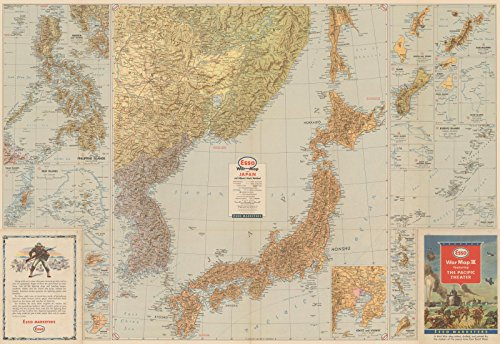 Historic Pictoric Map | WWII Pacific Theater: Japan 1940s | Vintage Poster Art Reproduction | 24in x 16in