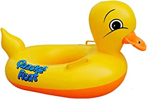 Sealive Inflatable Rubber Duck Pool Float for Kids, Swimming Pool Floats Boat Seats Beach Toy, Baby Shower Bath Seat Tub Water Fun Games Toys for 1 Year Old up Toddler