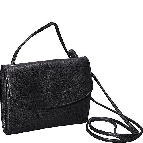 Half Flap Handbag - Derek Alexander Small Half Flap Organizer (Black)