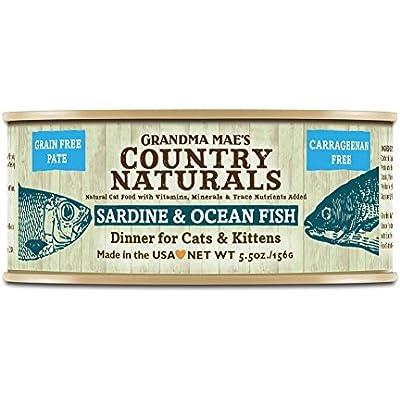 Grandma Mae'S 79700186 5.5 Oz Grain Free Sardine & Ocean Fish Dinner Cat Food (24 Pack), One Size