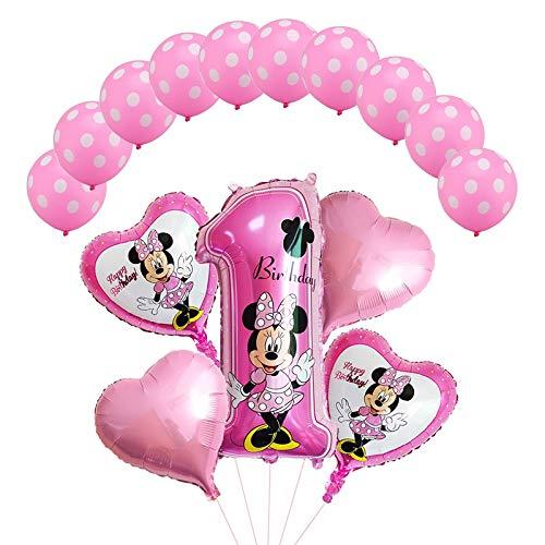 LIZHIOO Conjunto de Globos 15pcs / Set Mickey Minnie Foil ...