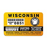 Wisconsin Ghost Hunter Hunting Permit Sticker Paranormal Investigator Decal