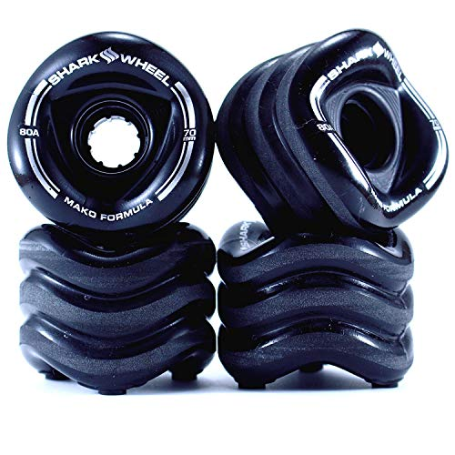 Shark Wheel Sidewinder 70mm 78A Traction Long Boarding Skateboard Wheels