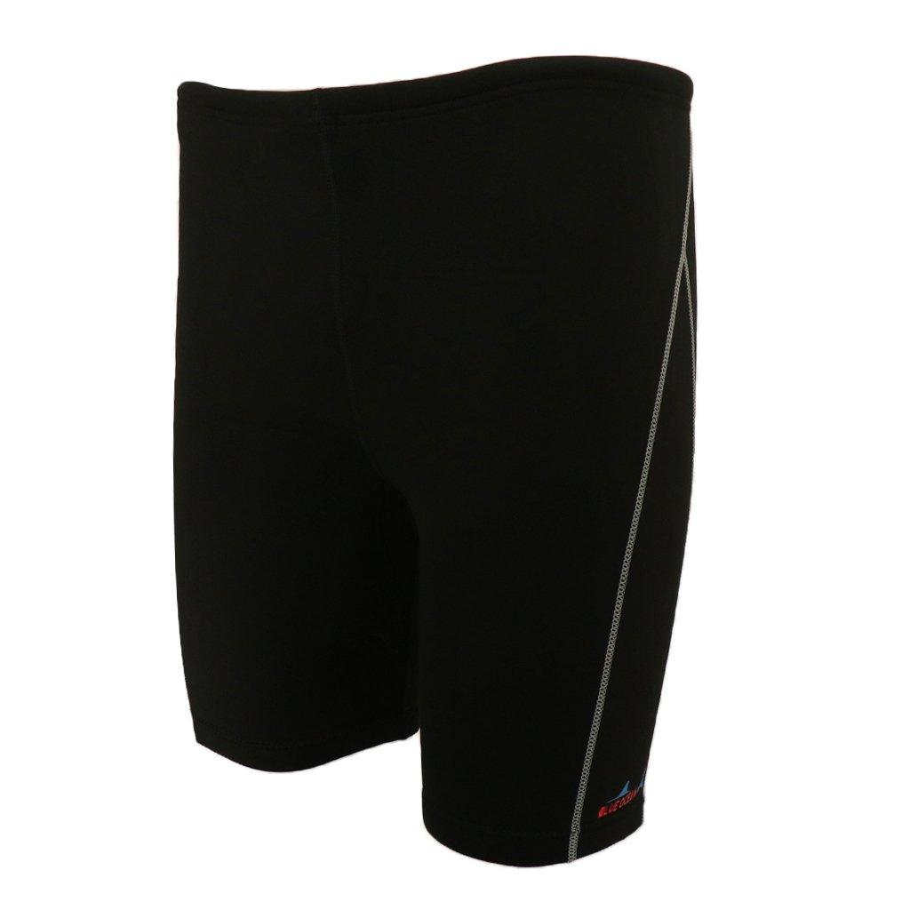 MonkeyJack 1.8mm Neoprene Men's Wetsuits Shorts Winter Warm Swimwear Trunks Diving Snorkeling Swimming Pants - Black, M by MonkeyJack