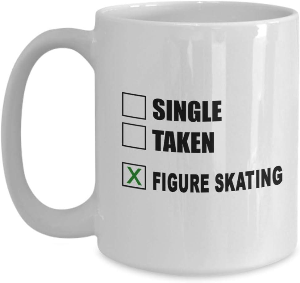 Amazon Com Figure Skating Coffee Mug Great Gift For Figure Skating Unique Figure Skating Hobby Cup Ceramic Skater Gift Kitchen Dining