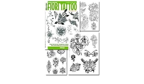 Fiori Tattoo.Amazon Com Tattoo Book Of Fiori Various Flower Illustrations