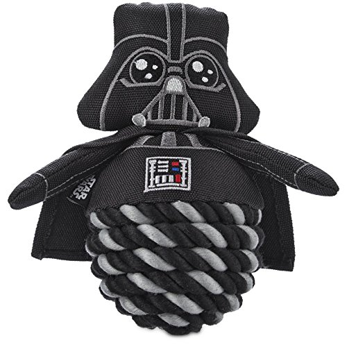 STAR WARS Darth Vader Rope Ball Dog Toy, 6