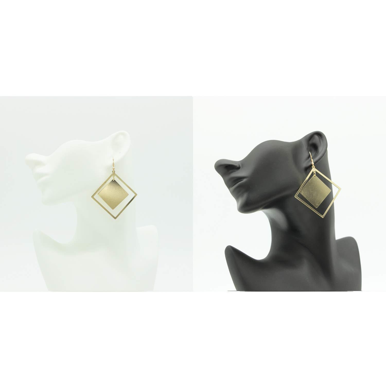 Large Minimalist Dangle Earrings Stainless Steel Geometric Statement Long Earrings for Women Girls Elegant Fashion with Gifts Box