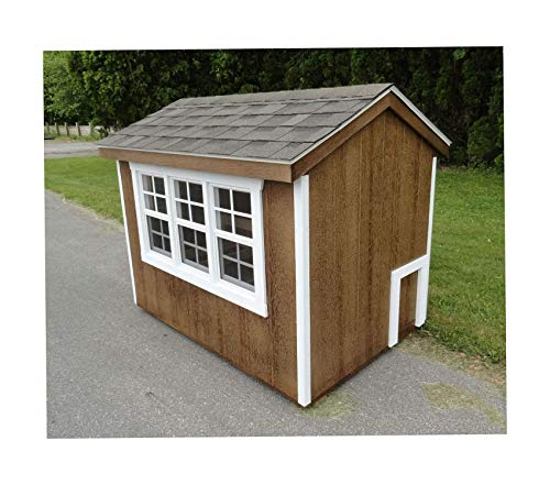 Furniture Henny Penny Chicken Coop Stauffer Red with White Trim Premium Office Home Durable Strong