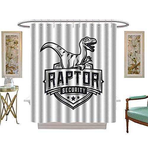 luvoluxhome Shower Curtains Fabric Extra Long Raptor Sport Logo Mascot Design Vintage College Team Coat Patterned Shower Curtain W69 x L84