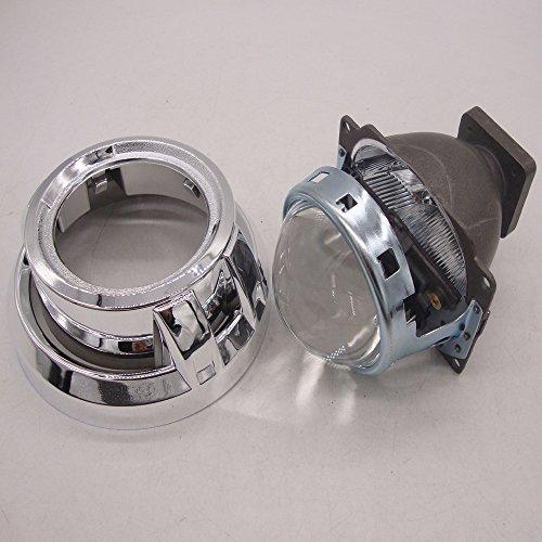 "3.0"" inch Mini HID Bixenon Projector Lens Conversion Car Headlight Kit w/chrome Shround"