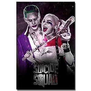 Amazon.com: Joker Harley Quinn - Suicide Squad Art Silk