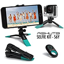 BPSMedia Tripod Stand Holder, Adjustable Mini, with Bluetooth Wireless Remote Shutter and Universal Clip for Iphone, Phone, Smartphone, iPad, Digital/ Action Camera, Gopro and Much More